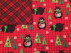 Large Baby Blanket, Swaddle, Bears, Lumberjack, Plaid, Red, Black, Green, Baby Boy, Reversible, Receiving Blanket, OOAK, Baby Shower Gift by QuinnsBin on Etsy https://www.etsy.com/listing/472500048/large-baby-blanket-swaddle-bears