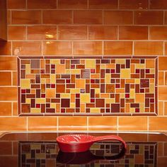 Check out our new blog post to learn more about this Autumn infused kitchen and how they used 4 different custom textures! Link in profile  by mercurymosaics