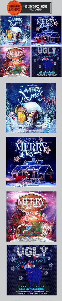 Christmas Instagram Banners by seasonOFTHEflowers | GraphicRiver