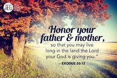 "2 – ""Honor your father and mother""—which is the first commandment with a promise Exodus 20 vs. 12 – Honor your father and your mother, so that you may live long in the land the… Daily Scripture, Bible Verses Quotes, Bible Scriptures, Love Your Parents Quotes, Respect Your Parents, Encouragement, Mother Quotes, Daughter Quotes, Parenting Quotes"