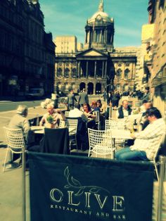 Some of our diners enjoying a well deserved relax in the sun!