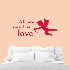 Wall Decals Quote All we need is Love Decal Vinyl от CozyDecal