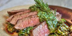 Steak with kale pesto