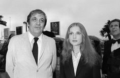 Maurice Pialat and Isabelle Huppert at the 1980 Cannes Film Festival.