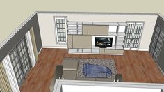 Lukas Jesse wall unit with exact measurments in process - 3D Warehouse