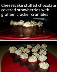 I have to try this!! Made with Philadelphia cheese cake ready filling and hard shell chocolate topping. Sounds easy enough....