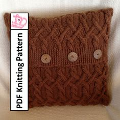 PDF KNITTING PATTERN Hexagons with a twist 18x18 cable pillow cover