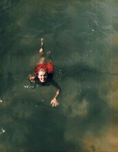 Marilyn goes swimming.