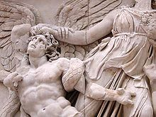 Gegant que Atenea agafa pels cabells a l'Altar de Zeus a Pèrgam.