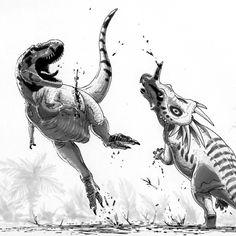 Dinosaurs.  Kicking ass and taking names!