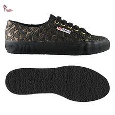 Superga Superga 2750-FABRICRHOMBUSW BLACK-GOLD - Chaussures superga (*Partner-Link)