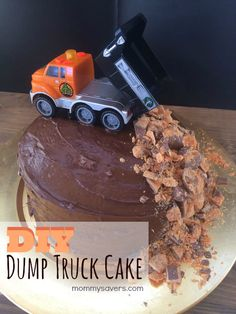 DIY dump truck cake - So cute for my little Destructo's next birthday - - and even I can make that!!!