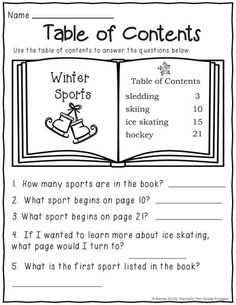 worksheet: Table Of Contents Worksheets 2nd Grade Wonders Unit Two ...