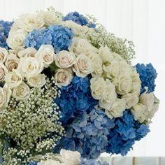Light Blue Flowers, Light Blue Wedding Decor, Light Blue Flower Centerpieces