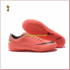 new arrival 8e6fd 97112 Nike Mercurial Indoor Victory VIII IC Orange Black Football Boots Junior 9  Cheap Soccer Shoes,