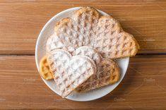 Homemade waffles heart. by Mellisandra on @creativemarket