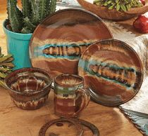 Red Rocks Gem Dinnerware - 4 pcs & Ranch Kitchens House Ideas Nests Dinnerware Crowe Nests ...