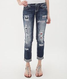 Miss Me Skinny Cropped Stretch Jean at Buckle.com #flag #july4th