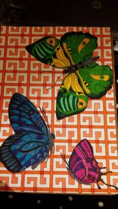 Coloured  butterflies