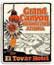 Grand Canyon El Tovar Hotel Arizona Vintage Style Travel Decal / Vinyl Sticker