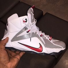 Nike LeBron 12 White/Red