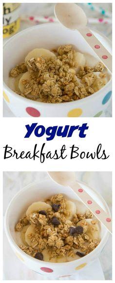 Yogurt Breakfast Bowls – And easy breakfast that will definitely fill you up!