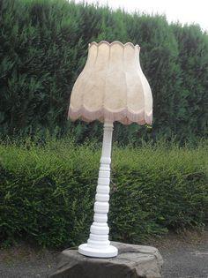 Stehlampen - Lampe Standleuchte Massiv Holz Shabby Groß - ein Designerstück von Die-Ideenschmiede bei DaWanda