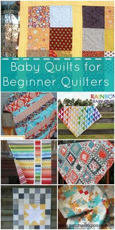 Ready to learn how to quilt? …a smaller easy quilts… baby quilts are the perfect place to start. Something that is manageable to piece and to quilt with your machine. These 20 baby quilts feature simple designs and patterns. Easy Sewing Projects, Sewing Projects For Beginners, Sewing Hacks, Sewing Crafts, Sewing Tips, Sewing Tutorials, Free Tutorials, Sewing Designs, Quilt Designs