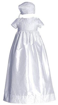 Short Sleeve Beaded Silk Dupioni Christening « Clothing Impulse