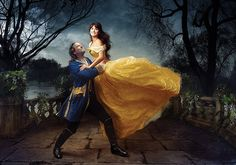 Disney-Themed Celebrity Portraits By Annie Leibovitz | Penelope Cruz and Jeff Bridges as Beauty and the Beast