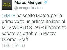 Marco Mengoni ALL'ETÀ WORLD STAGE ITALIA 2015