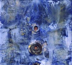 As yet untitled: encaustic paint, paper, old washers I made the encaustic assemblages above and below in preparation for the Encaustic Ja...