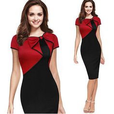 Details about Women Sexy Elegant Business Work Office Pencil Dress Slim Party Cocktail Dresses Dress Up Party Dress Cocktailkleider in Kleidung, Schuhe & Accessoires, Damenbekleidung, Kleider Cocktail Vestidos, Short Dresses, Dresses For Work, Work Outfits, Office Dresses, Office Outfits, Summer Outfits, Womens Cocktail Dresses, Business Dresses