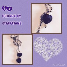 ❤️ HP  SalePurple Heart Lariat  Iridescent beads with 2 Purple Hearts. No clasp. Limitless possibilities for wearing this 40 inch long lariat. NWOT Park Lane Jewelry