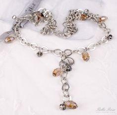 Náhrdelník Crystal - powden | Bella Rose Bella Rose, Vagas, Charmed, Crystals, Bracelets, Jewelry, Bangle Bracelets, Jewellery Making, Jewerly