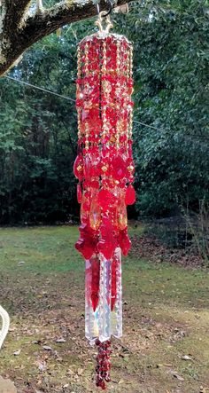 Your house to purchase and promote all issues handmade Crystal Wind Chimes, Diy Wind Chimes, Glass Wind Chimes, Glass Garden, Garden Art, Homemade Garden Decorations, Vintage Garden Decor, Ruby Crystal, Diy Crystals