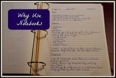 "Why Use Notebooks (CAVEAT: I do not agree with #1. Notebooking is a vehicle for creativity, not conformity or ""obedience."" Other than that, this is a great post.)"