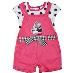 2pc Minnie Mouse Shortall 12 24m 319057691 | Matching Sets | Baby Girl... (17 AUD) ❤ liked on Polyvore featuring baby, baby girl, baby girl clothes, kids and baby stuff