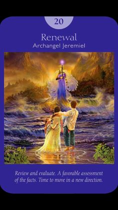Judgment (Renewal) - Archangel Jeremiel - Angel Tarot Cards by Doreen Virtue and Radleigh Valentine. Artwork by Steve A. Doreen Virtue, Free Tarot Cards, Angel Prayers, Angel Guidance, Oracle Tarot, Angel Cards, Tarot Spreads, Guardian Angels, Card Reading
