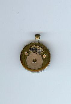 Movement  Resin with Watch Parts Pendant by saholtartist1 on Etsy, $50.00