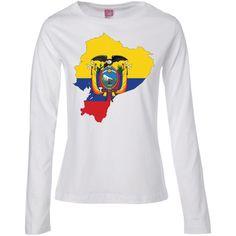 ecuador flag -01 Ladies' Long Sleeve Cotton TShirt