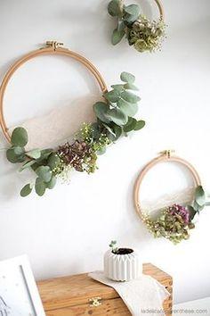 trendy ideas for flower art diy wreaths