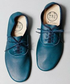 Simple Blue Flat Shoes