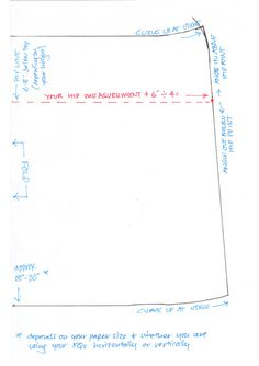 Fat Quarter Skirt diagram