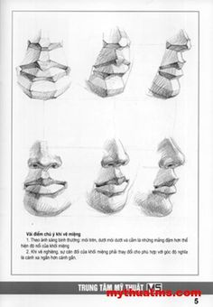 Mouth Drawing, Drawing Heads, Nose Drawing, Anatomy Sketches, Drawing Sketches, Art Drawings, Male Figure Drawing, Figure Drawing Reference, Human Anatomy Drawing