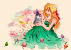 Older Sophie and little Bunnymund