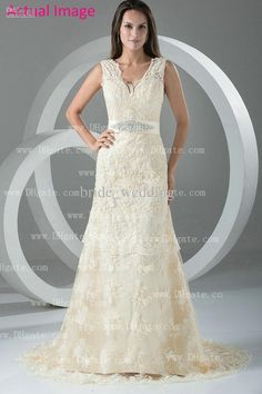 55+ Beige Lace Wedding Dress - Country Dresses for Weddings Check more at http://svesty.com/beige-lace-wedding-dress/