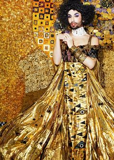 Conchita Wurst glistens in gold on high fashion shoot styled by Jean Paul Gaultier | Daily Mail Online