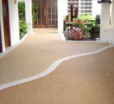 PebbleStone flooring for outside!