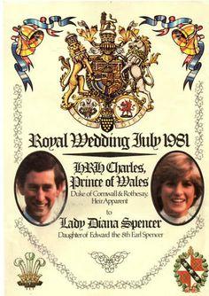 Royal Wedding July 29,1981~~ Prince Charles & Lady Diana Spencer.